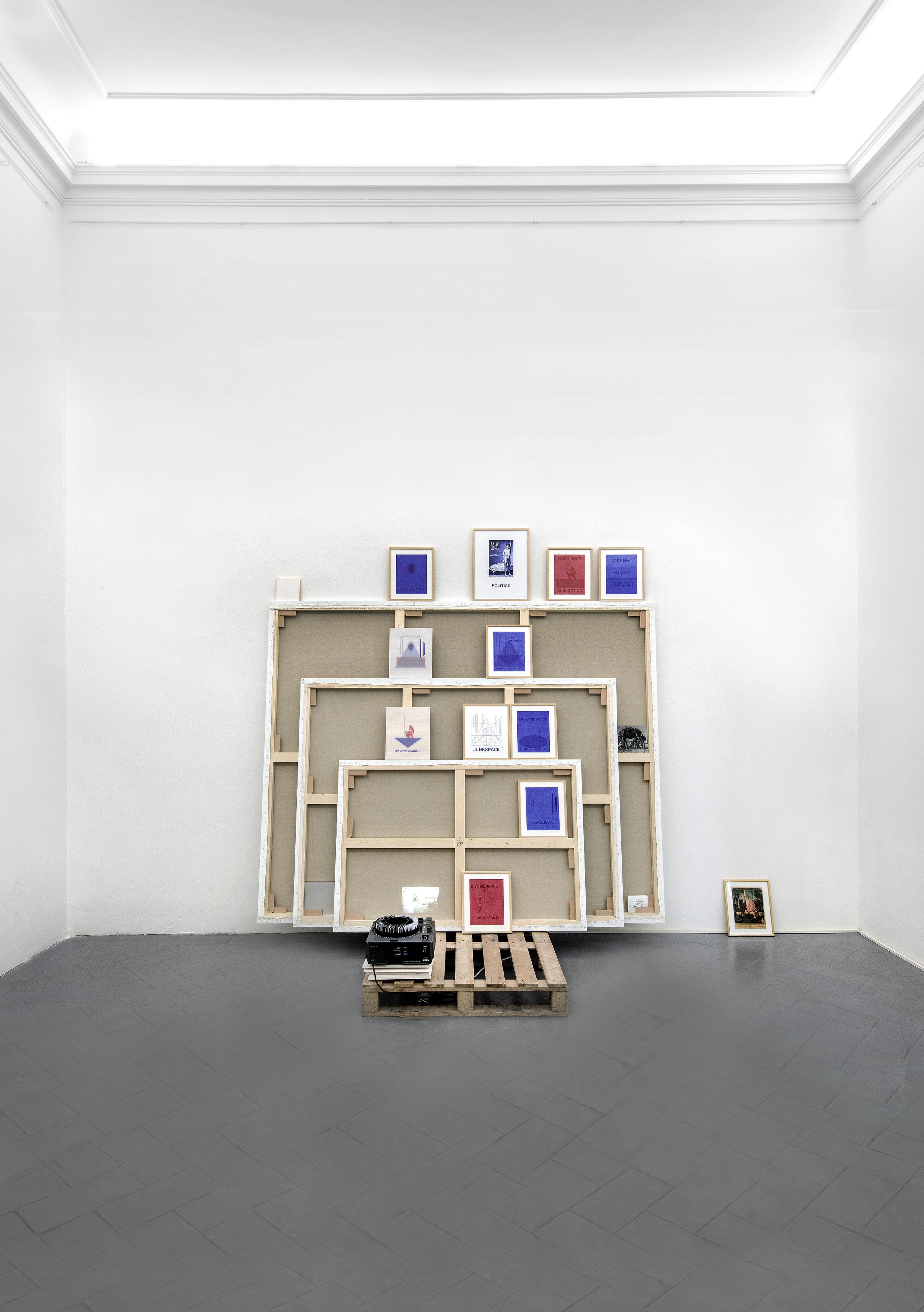 La Forma della Città, veduta della mostra. Giuseppe Stampone, Tentativo fallito di una pittura utopistica, 2016