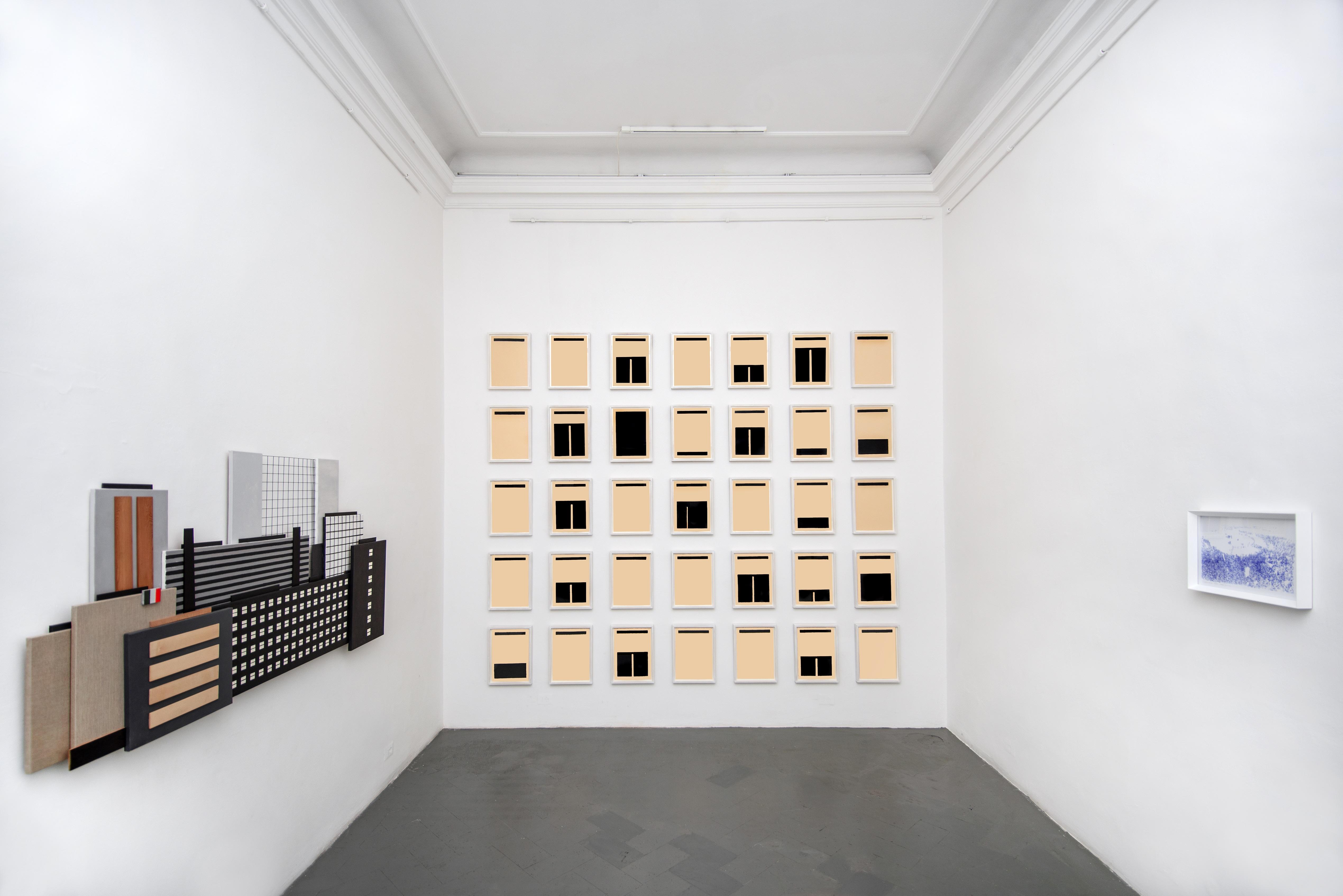 La Forma della Città, veduta della mostra con opere di Marco Neri e Margherita Moscardini