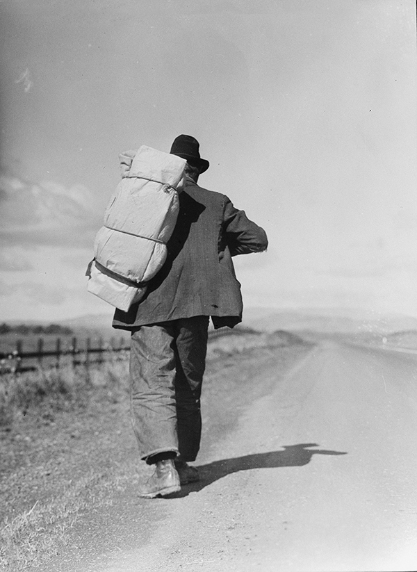 Migrant Worker on California Highway, 1935