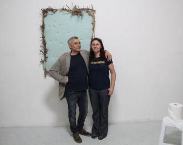 Stefania Galegati con Alfonso Leto