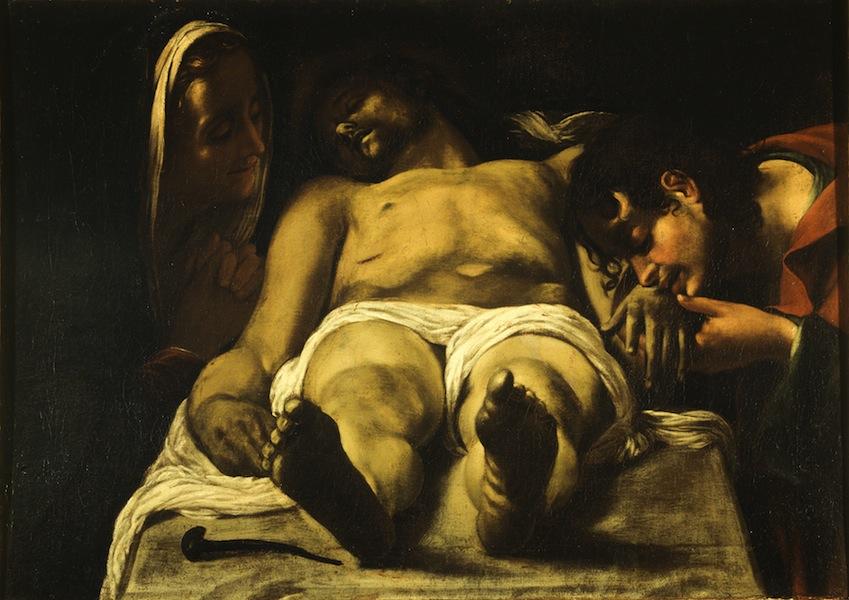 Orazio Borgianni, Compianto sul Cristo morto, 1615, olio su tela, 55x77 cm, Galleria Spada, Roma
