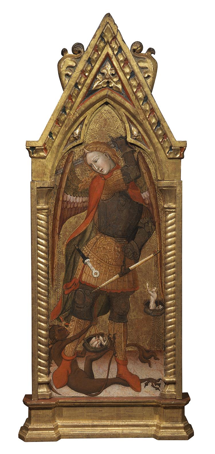 Andrea de Bartoli (attivo ca. 1350 – 1377), L'Arcangelo Michele, XIV secolo, tempera su tavola, 115 x 48 cm
