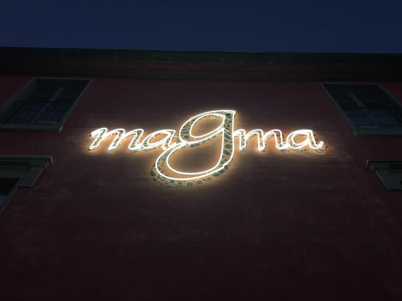 Opiemme, installazione luminosa per la facciata del Museo Magma