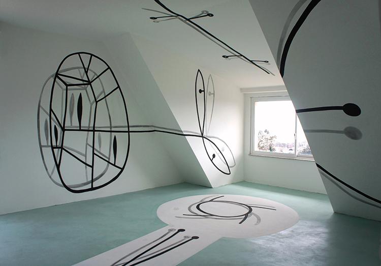 Angelo Casciello, Stanza della Pace, Fondazione La Verde La Malfa, pittura acrilica e resina su parete, dimensioni ambientali, particolare. Foto: Marcella D'Amico