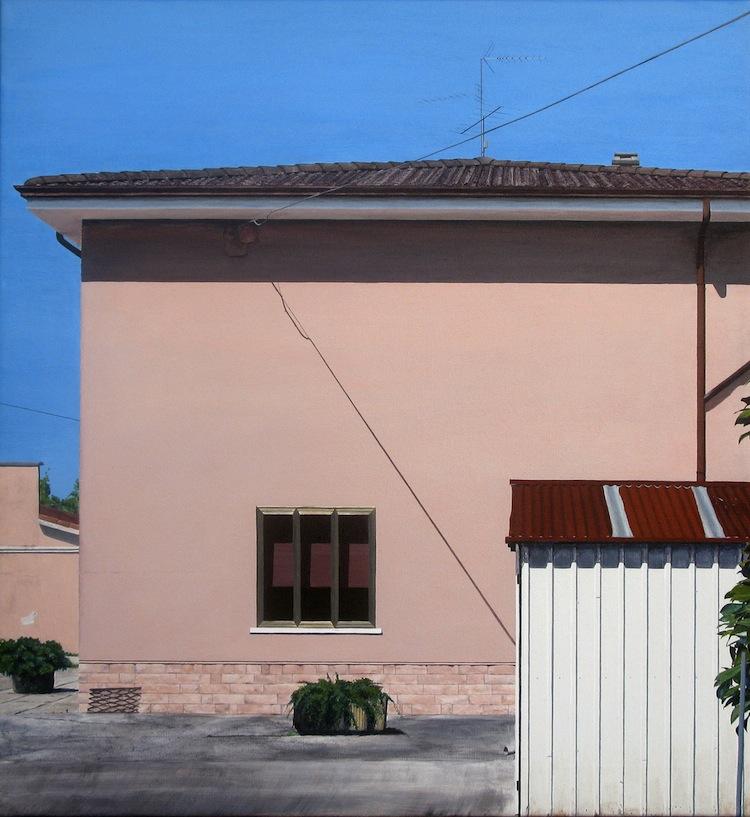 Anne Skole Overgaard, Casa, 2014, acrilico su tela, 65x60 cm