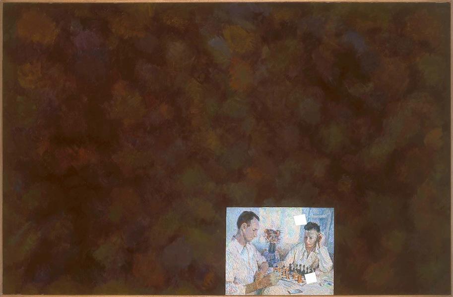 Ilya Kabakov, A Game of Chess, 1973-2003, olio su tela, 160x250 cm, Collezione Olgiati, Lugano Photo Ilya and Emilia Kabakov Studio, Long Island