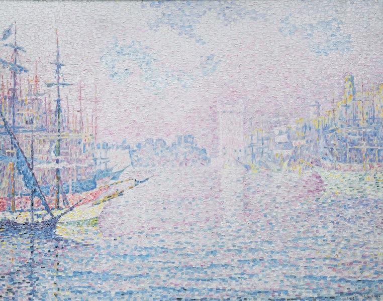 Paul Signac, Marseille. Le Vieux Port, 1906, olio su tela, 73x92 cm, Collezione privata Fotografia: Maurice Aeschimann