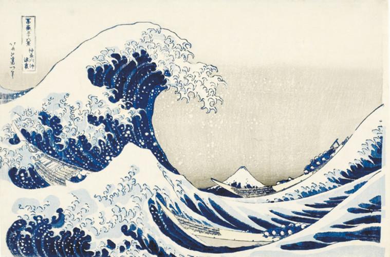 Katsushika Hokusai, La grande onda presso la costa di Kanagawa,1830-1832, xilografia, 25,9 x 38,5 cm, Honolulu Academy of Arts