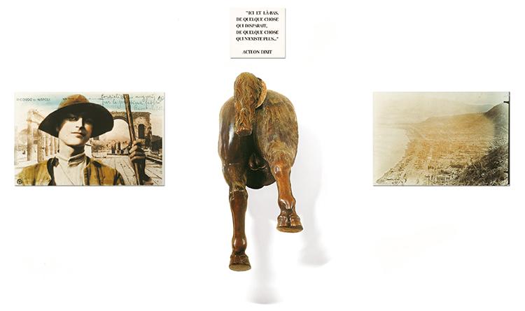 Jean-Michel Alberola, 1907, scultura in bronzo, foto e testo, collezione Terrae Motus, Reggia di Caserta
