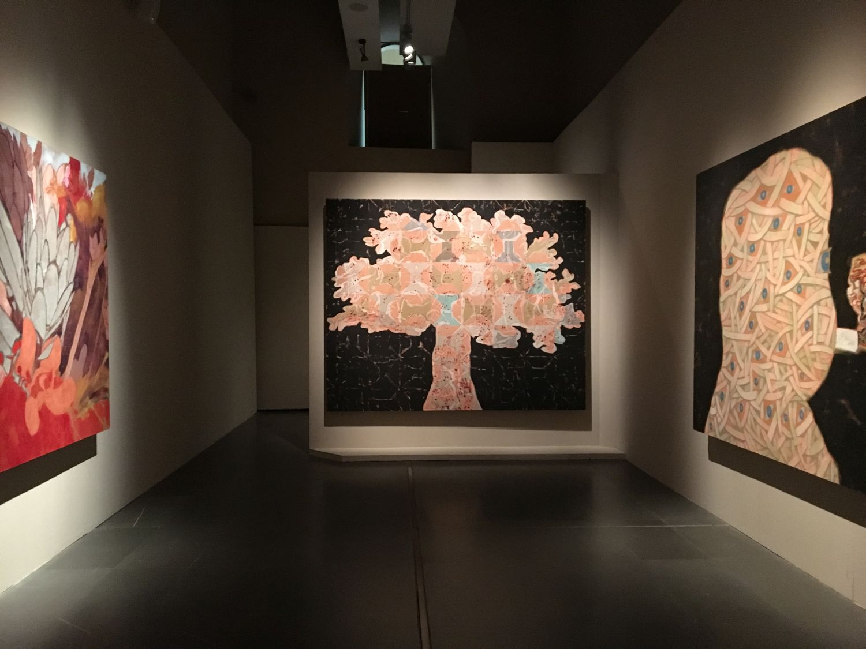 Francesco Clemente, veduta della mostra, Fiori d'inverno a New York, veduta della mostra
