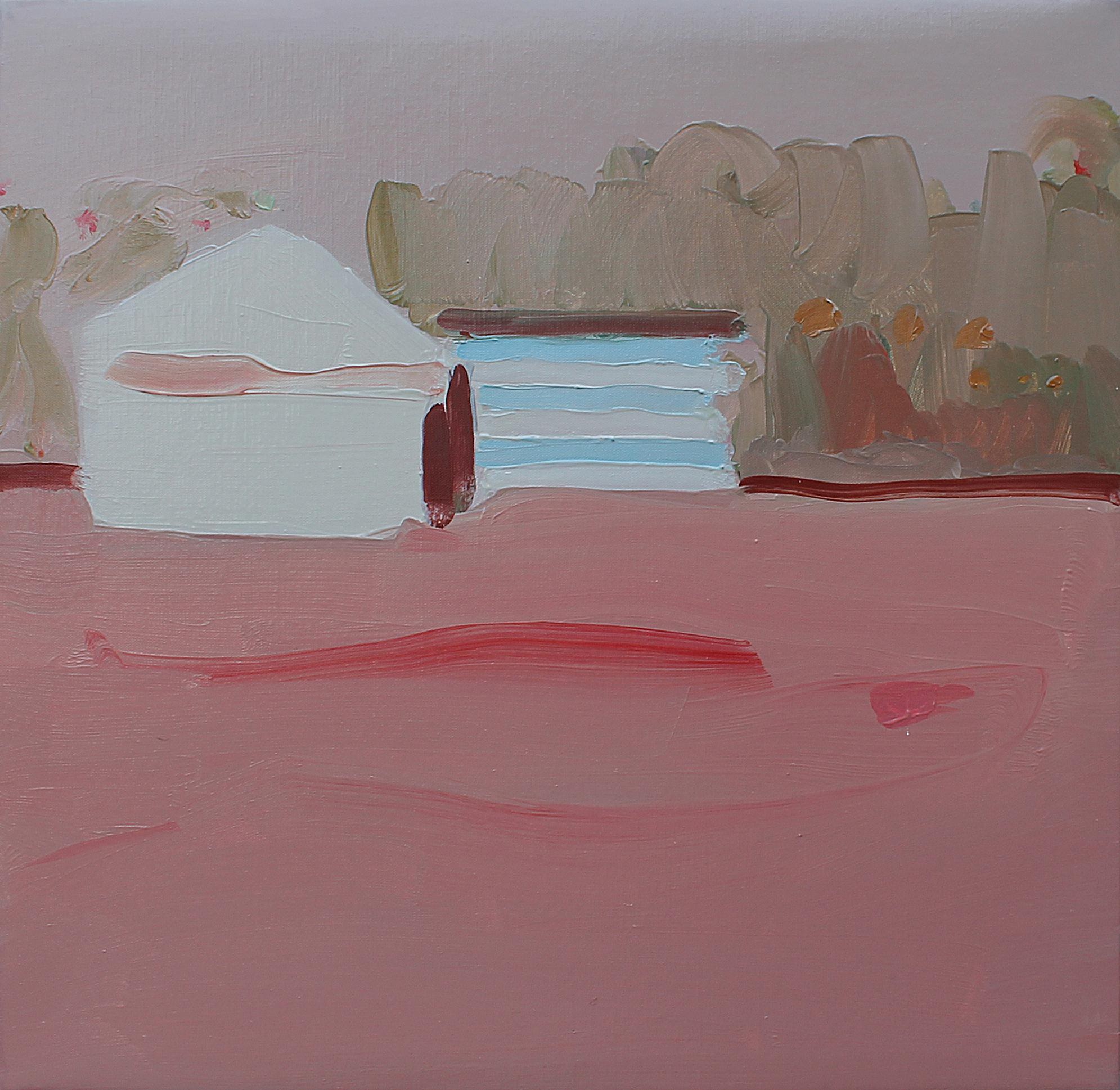 Francesco Cocco, Asfalto 2016, olio su tela, 40 x 40 cm