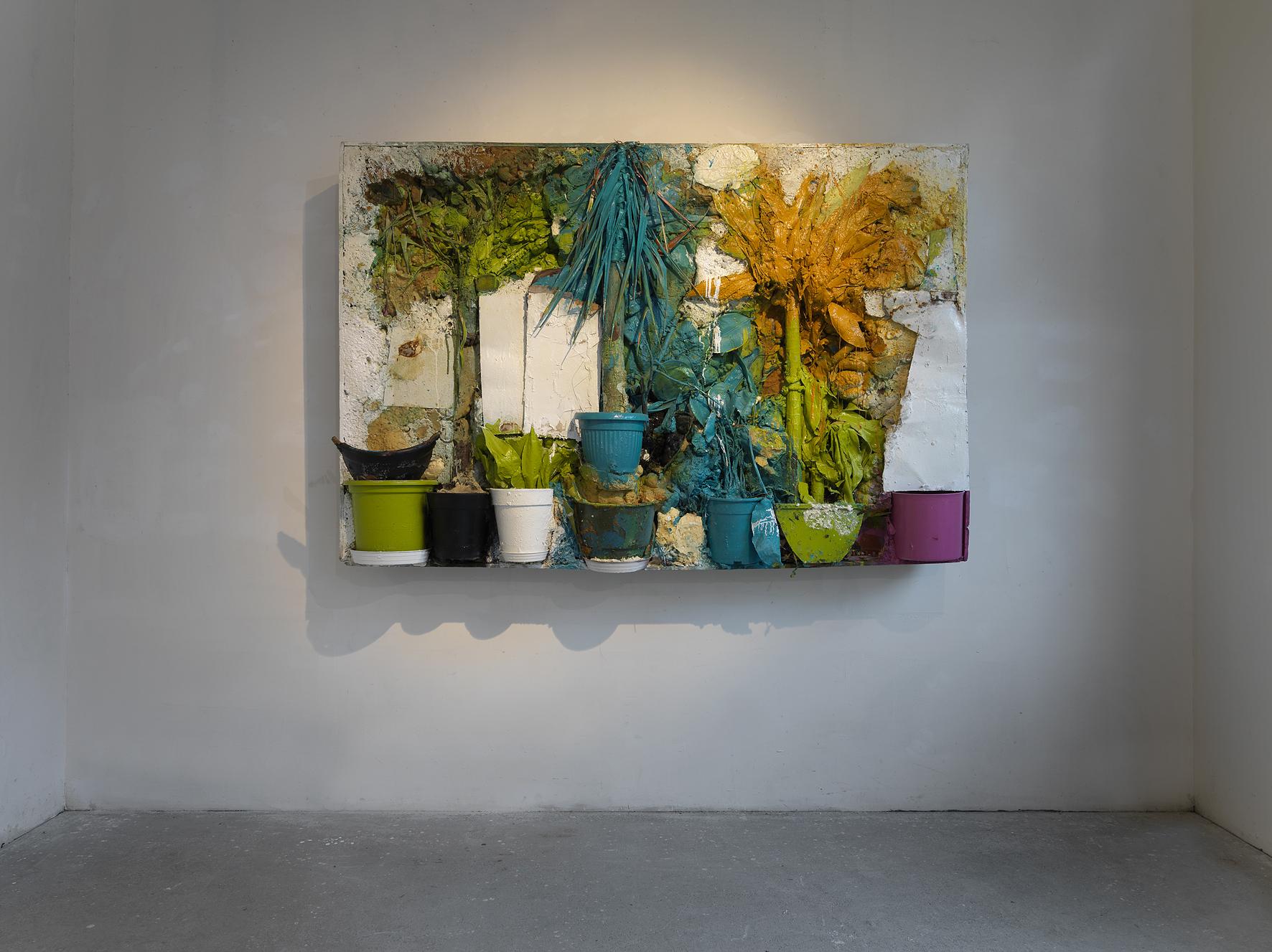 Bonioni Arte - Giacomo Cossio, Eden, 2015, tecnica mista su tavola,cm. 150x200x30, Museo della città di Rimini, 2016, foto Dario Lasagni