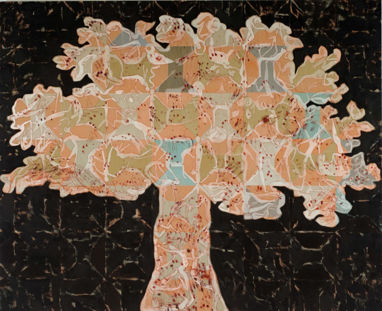 Francesco Clemente, Tree of Life, 2013-2014 tecnica mista su tela collezione privata