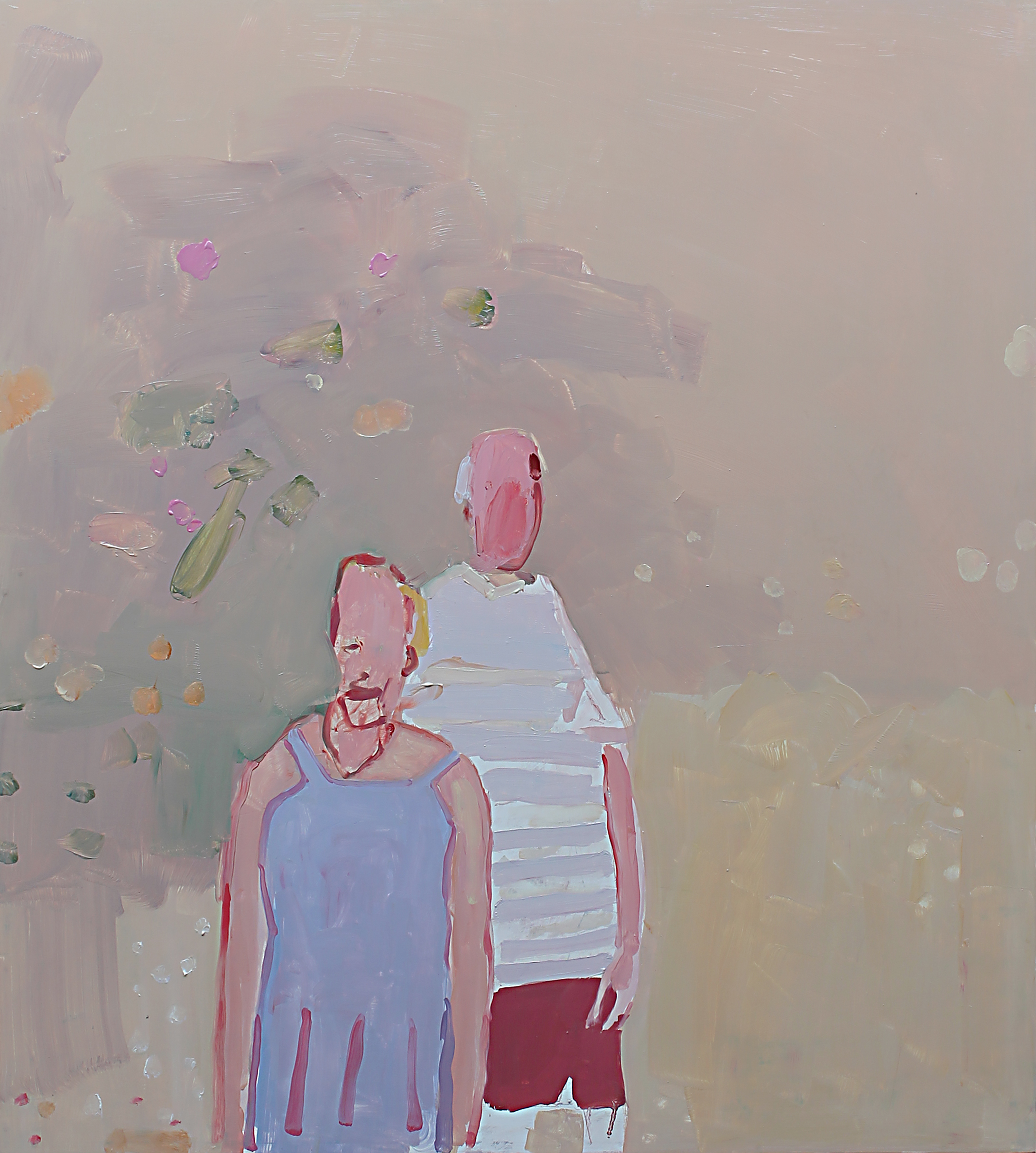 Francesco Cocco, Il giardino dei Roses, 2016, olio su tela, 90 x 80 cm