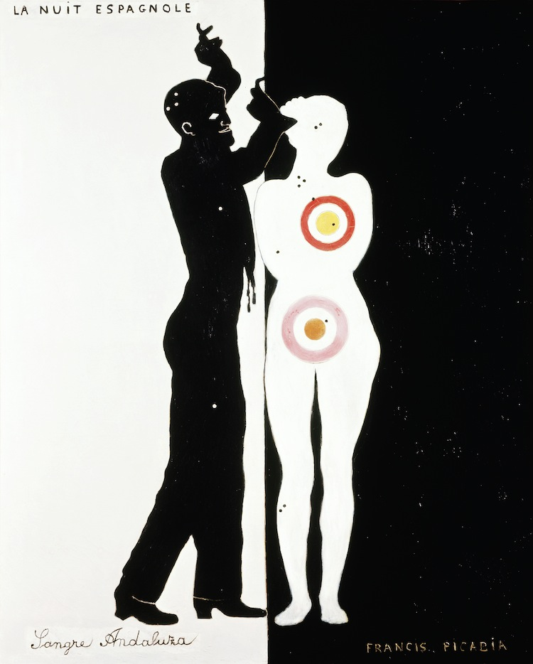 Francis Picabia, La Nuit espagnole, 1922, Ripolin und Öl auf Leinwand, 160x130 cm, Museum Ludwig, Köln. Sammlung Ludwig © 2016 ProLitteris, Zürich