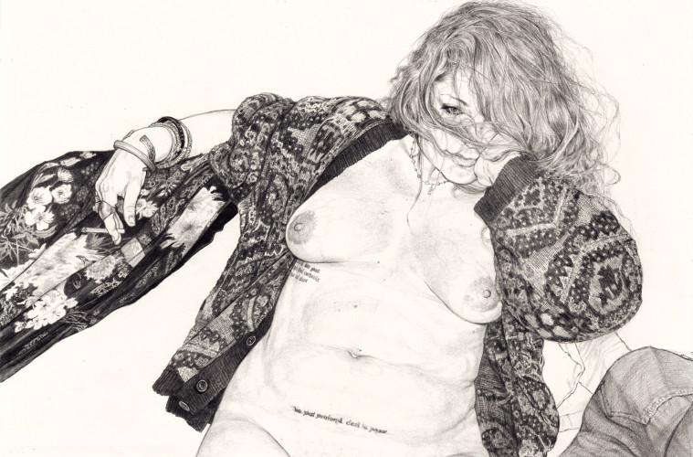 Riccardo Mannelli, Le plus profond, cm 46x32, disegno su carta, 2016