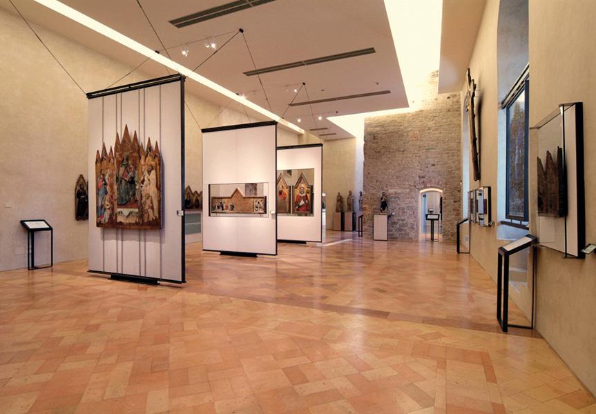 Veduta della Galleria Nazionale dell'Umbria