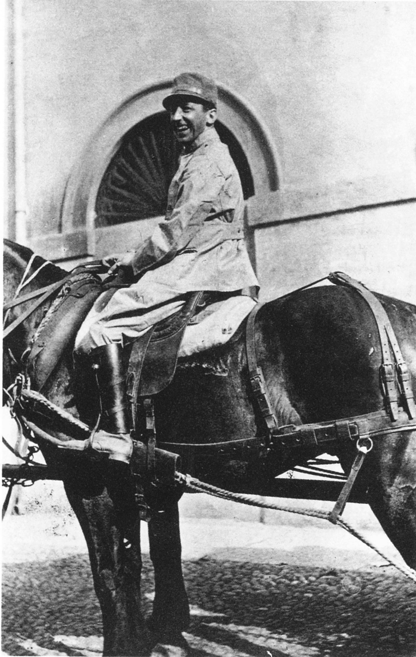 Umberto Boccioni nell'estate del 1916