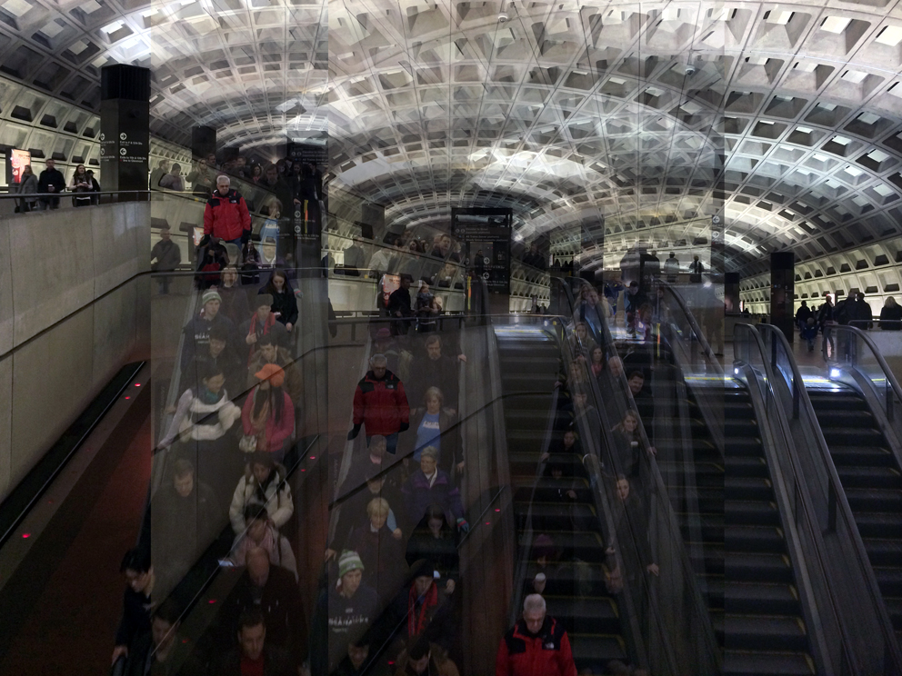 Patrizia Bonanzinga, The Big Data World #4, Subway - Washington 2015