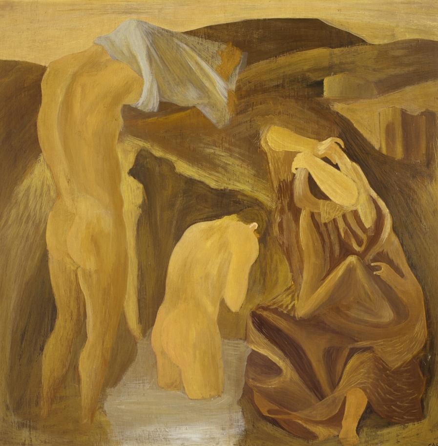Corrado Cagli, I neofiti, 1934, tempera ad encausto, Roma, collezione privata