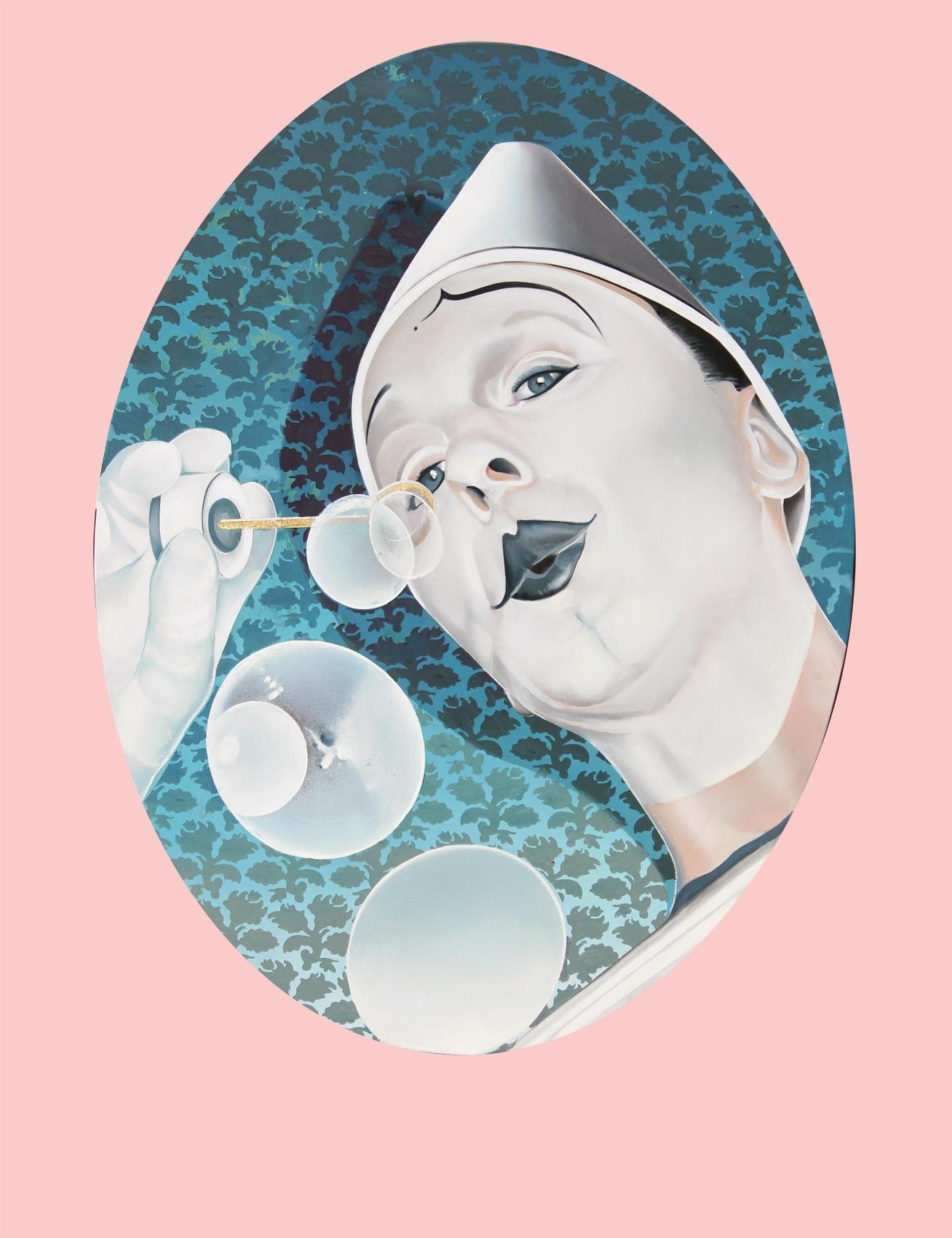 Luca Suelzu, ABRACADABRA 1, 2015, 90x60, oilo su tela, Courtesy dell'artista