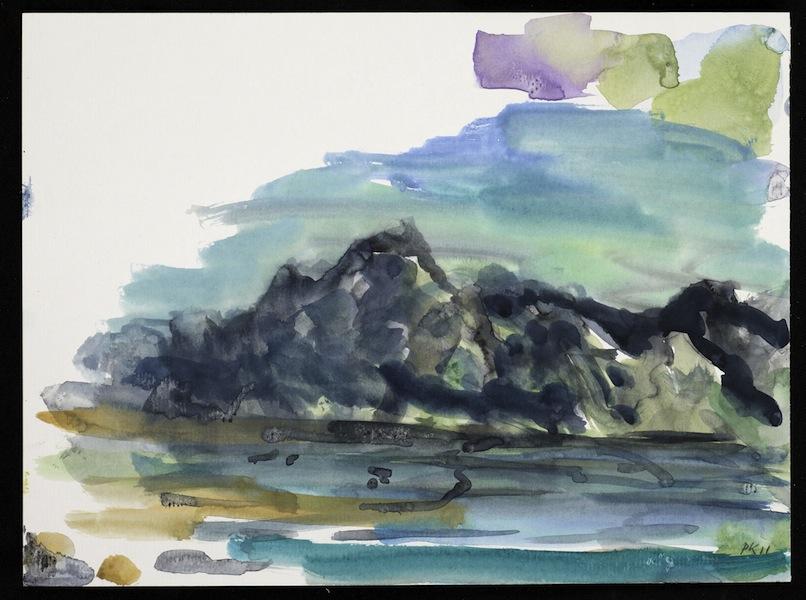 Per Kirkeby, Senza titolo (Groenlandia), 2011, gouache su carta, 21x28 cm Courtesy Bo Bjerggaard Galleri, Copenaghen