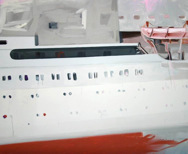 Andrea Bartošová, I.C. (International Cruise), 2008, acrilico su tela