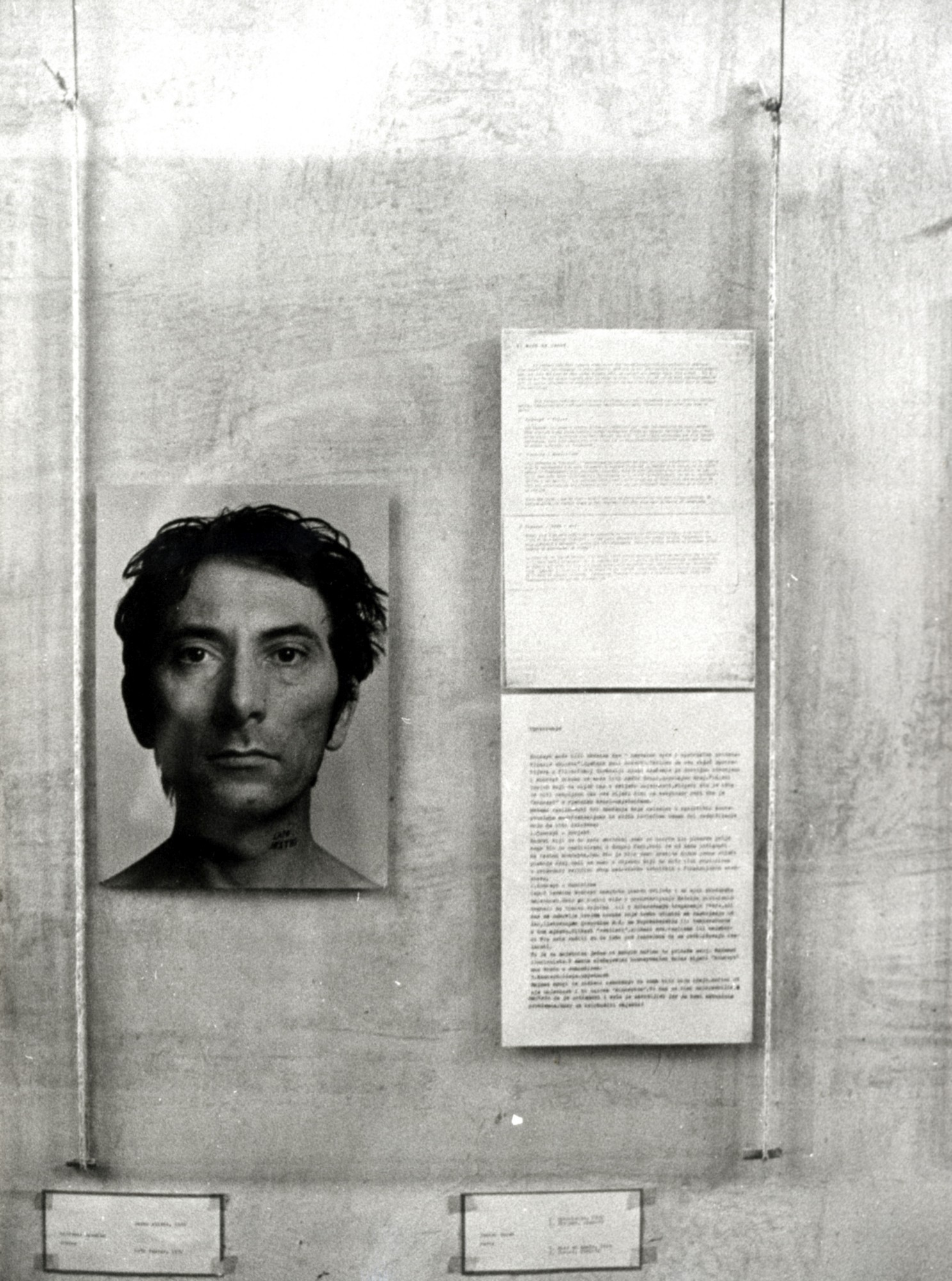 At the Moment Exhibition, Haustor, 1971, installation view with Giovanni Anselmo's work, photo-documentation, Marinko Sudac Collection