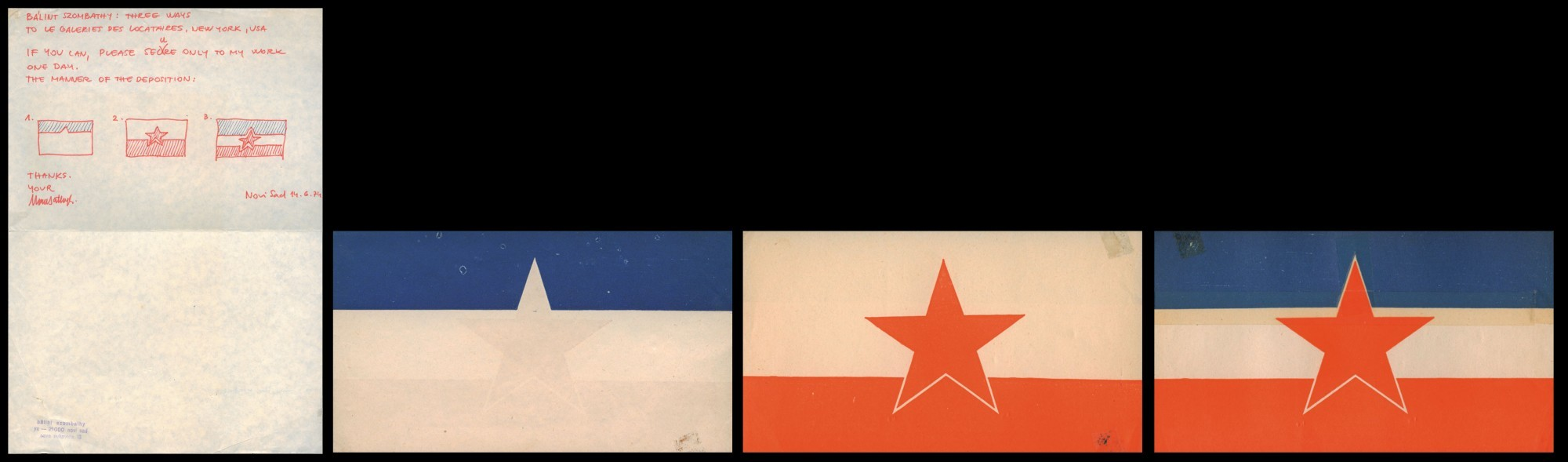 Bosch + Bosch Group (BaElint Szombathy), Three modes -Deconstruction of Yugoslavia, 1974, Marinko Sudac Collection
