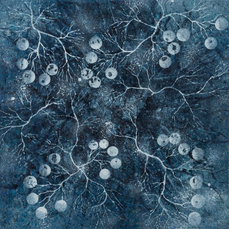 Alberto Di Fabio, Elettromagnetismo, 2016, acrilico su tela, 97.5x97.5 cm Courtesy Luca Tommasi Arte Contemporanea, Milano