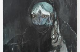 Nebojša Despotović, Senza titolo, 2015, acrilico, collage e décollage su tela, cm 50 x 60, courtesy Boccanera, Trento
