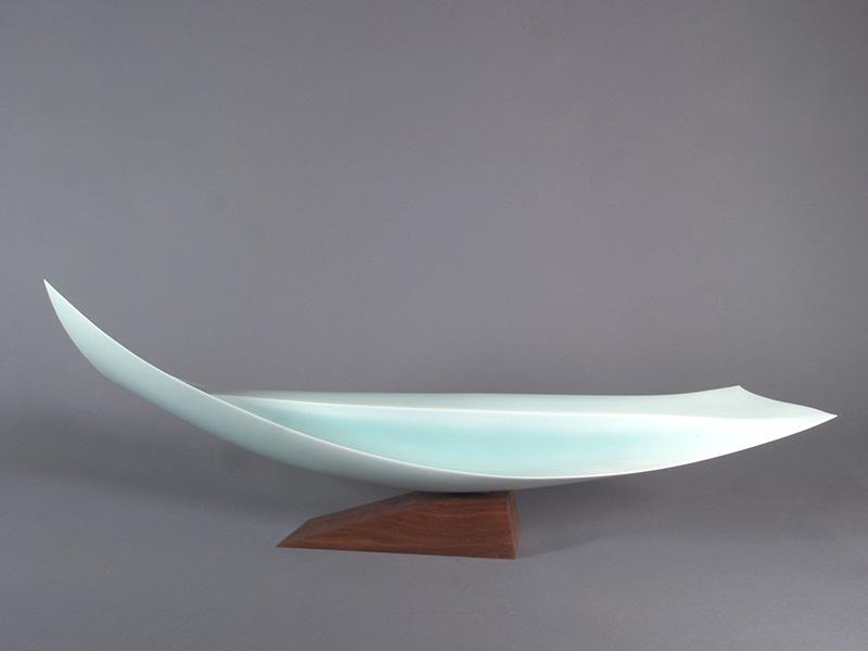 Sueharu Fukami, Shun II (Attimo II), 1998, porcellana, cm 30.5x111