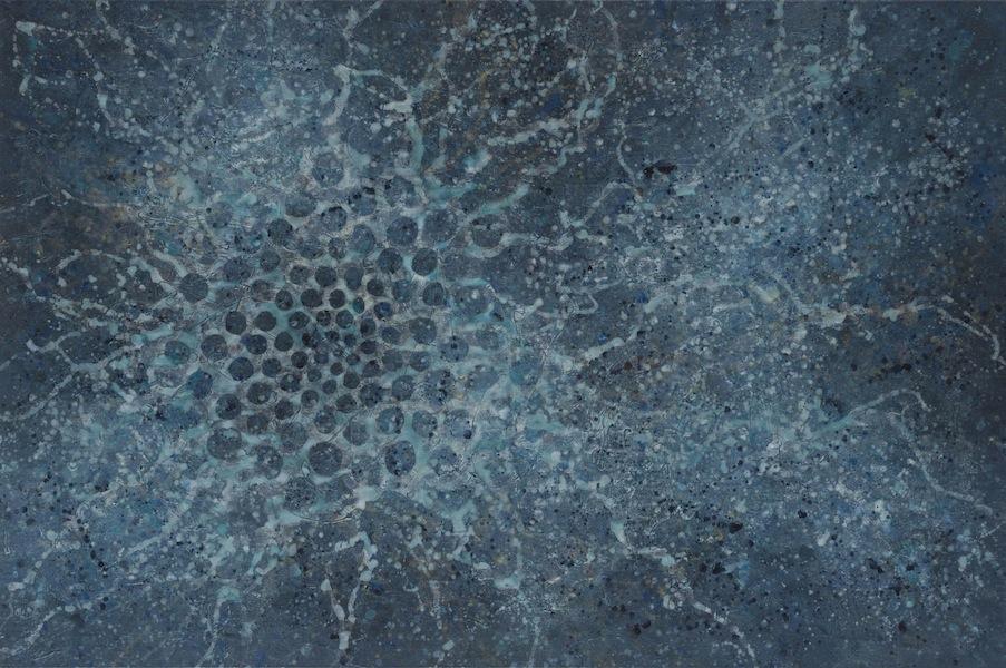 Alberto Di Fabio, Viaggio Astrale, 2016, acrilico su tela, 130x200 cm Courtesy Luca Tommasi Arte Contemporanea, Milano