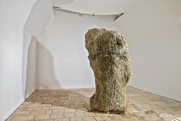 Victor Agius, Mother, 2004, Raw clay, Ggantija 2013 Project, St James Cavalier, Valletta Malta, m 1.5x1.4x3.1