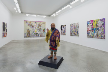 Veduta della mostra, Installazione Arhat, 2016  All artworks © Takashi Murakami/Kaikai Kiki Co., Ltd. All Rights Reserved. Courtesy Galerie Perrotin Foto: Claire Dorn