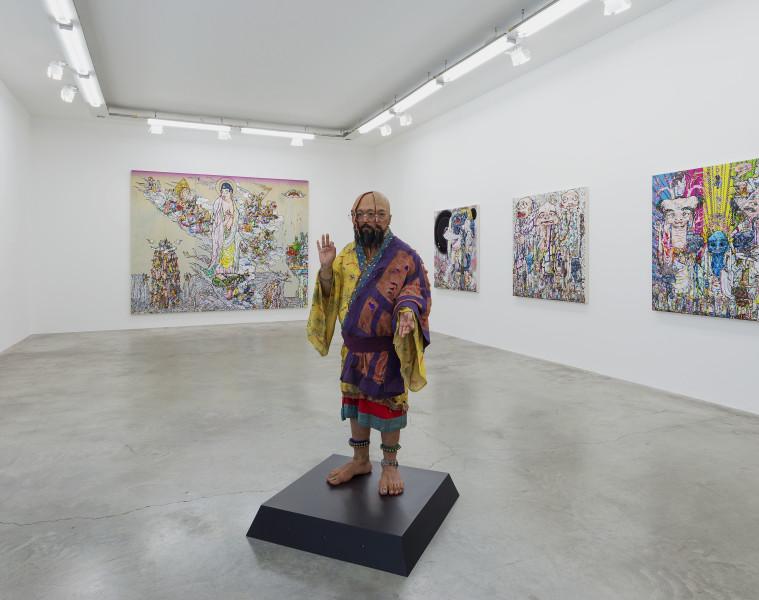 Veduta della mostra, Installazione Arhat, 2016  All artworks © Takashi Murakami/Kaikai Kiki Co., Ltd. All Rights Reserved. Courtesy Galerie Perrotin Foto: Claire Dorn