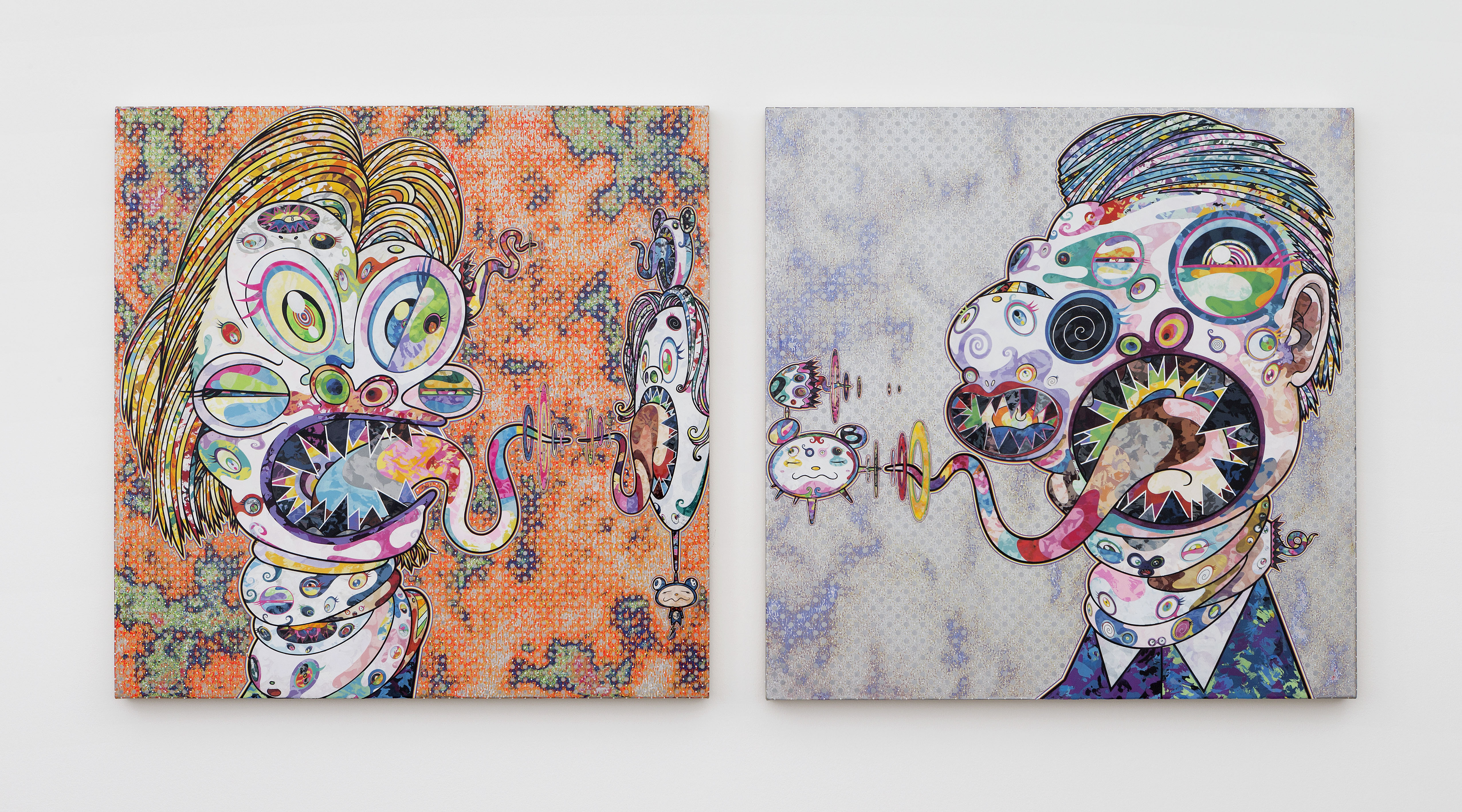 Homage to Francis Bacon (Study for Head of Isabel Rawsthorne and George Dyer), 2016 Foto: Claire Dorn © 2016 Takashi Murakami/Kaikai Kiki Co., Ltd. All Rights Reserved. Courtesy Galerie Perrotin