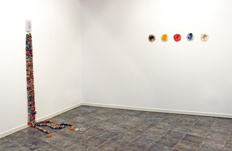 Angelica Consoli, Persone che abitano la stessa casa_3 e Elements, veduta dell'allestimento, Galleria Melesi, Lecco