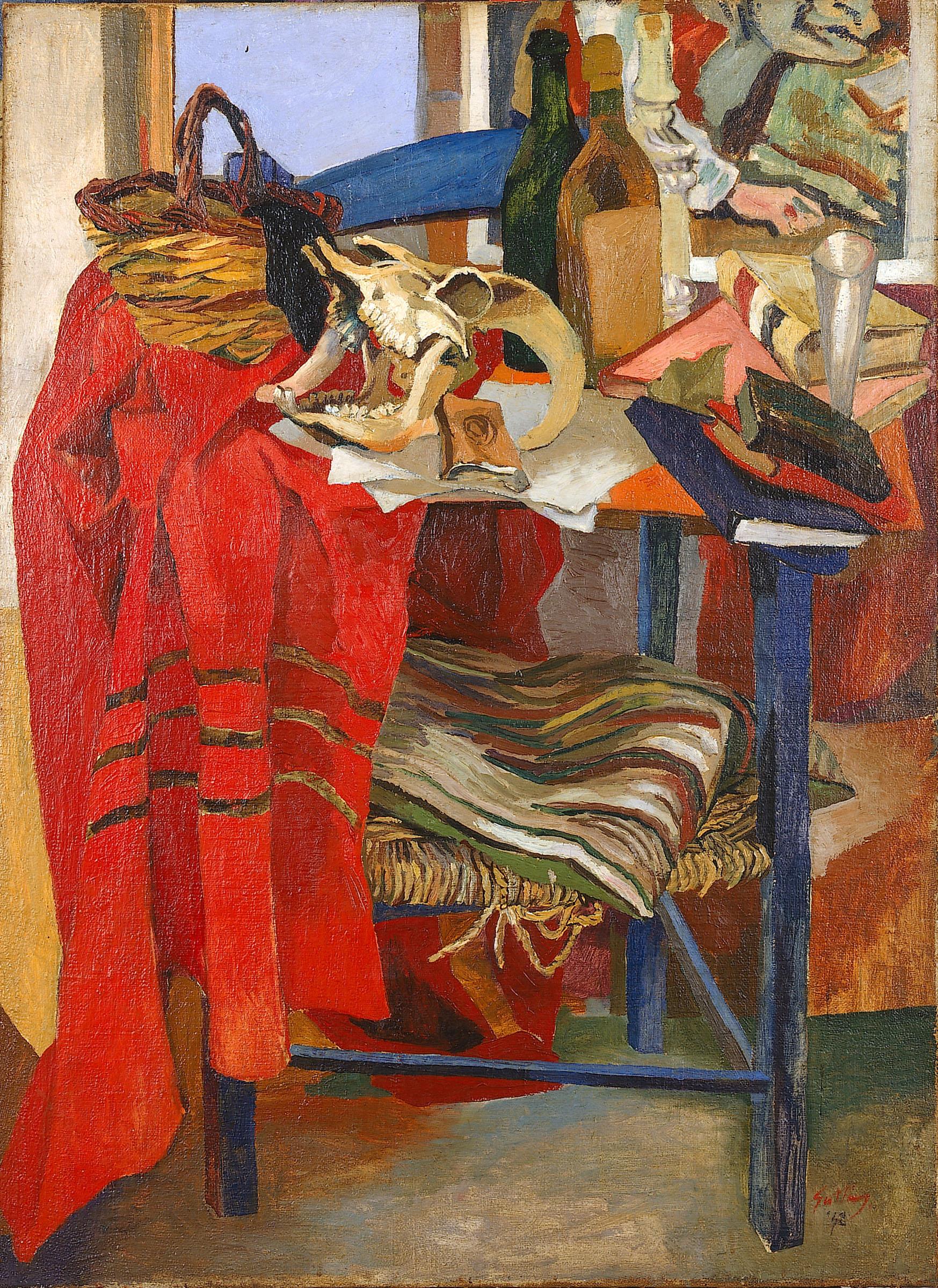 Renato Guttuso, Natura morta con drappo rosso, 1942 Olio su tela, cm 110x81 Varese, Fondazione Francesco Pellin © Renato Guttuso by SIAE 2016