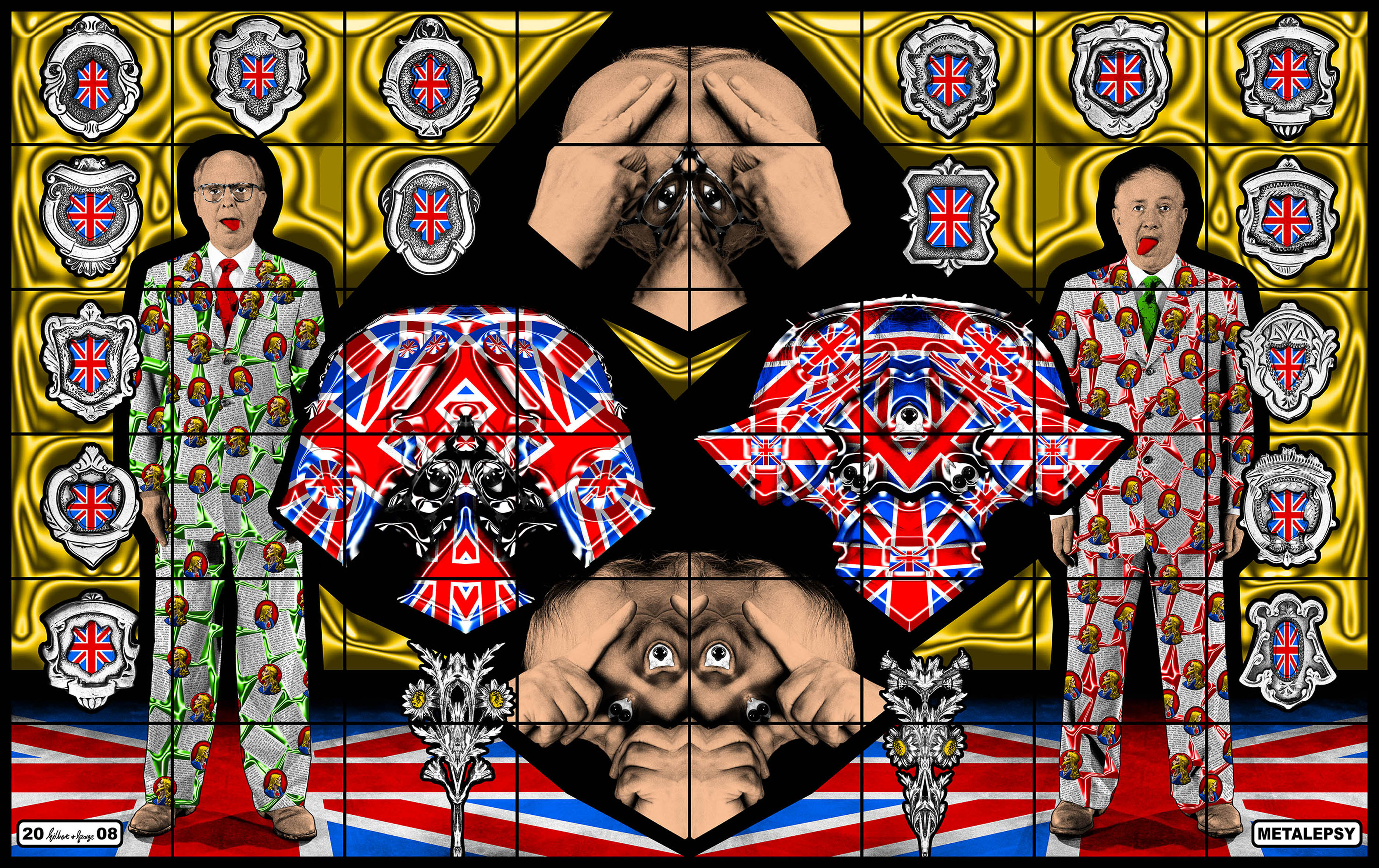 Gilbert & George Metalepsy 2008 381x604 cm Courtesy: Gli artisti e White Cube © Gilbert & George