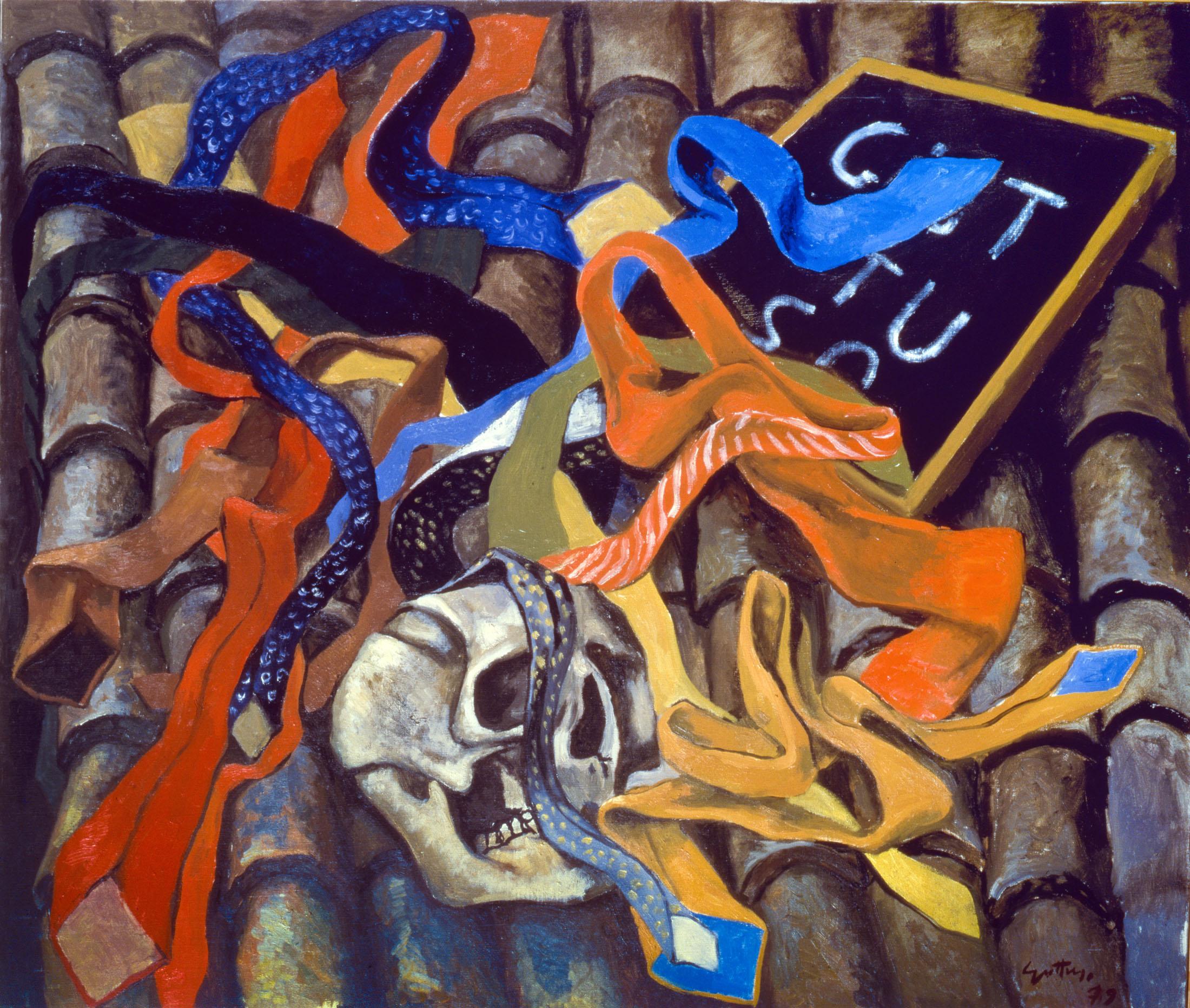 Renato Guttuso, Teschio e cravatte, 1979 Olio su tela, cm 80x95 Roma, Archivi Guttuso © Renato Guttuso by SIAE 2016
