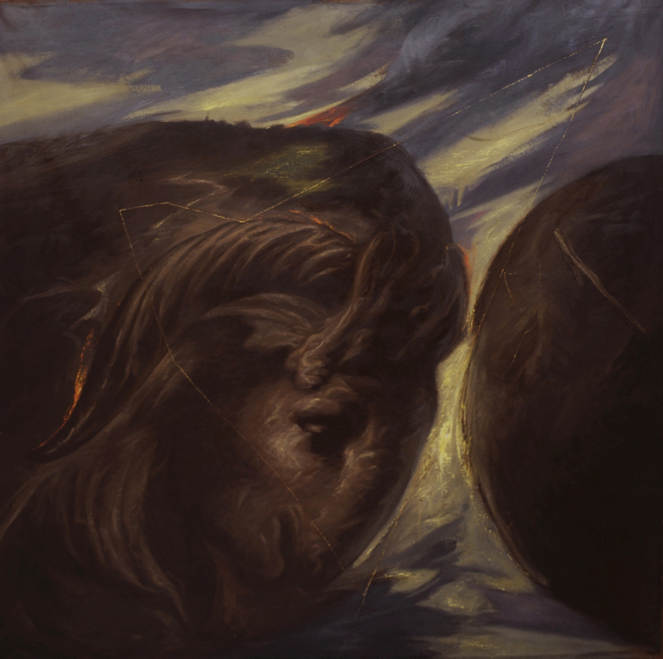 Omar Galliani, Terreo Vello d'Oriente,1984,olio su tela,cm 200x200