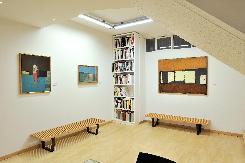 Veduta della mostra Marca-Relli. Tra figura e astrazione. Courtesy Galleria Open Art
