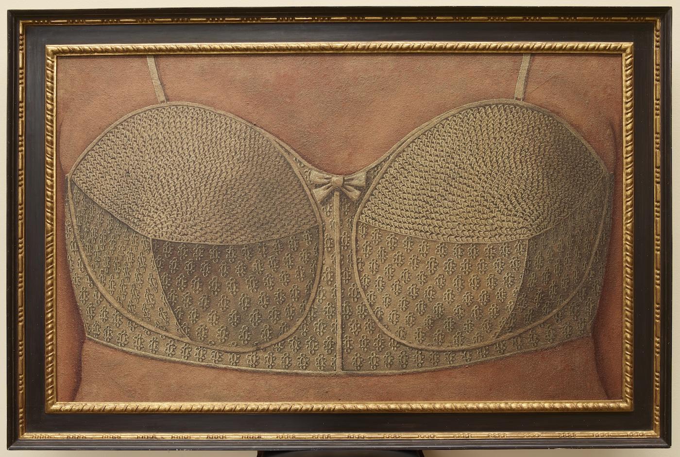 Domenico Gnoli, Reggiseno, 1964, acrilico e sabbia su tela