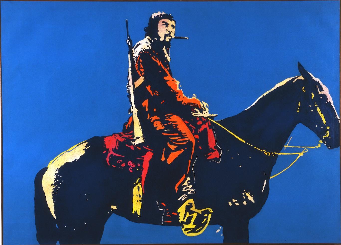 """Giangiacomo Spadari, """"Escambray monumento"""", 1968, acrilico e tecnica mista su tela, 180x249 cm"""
