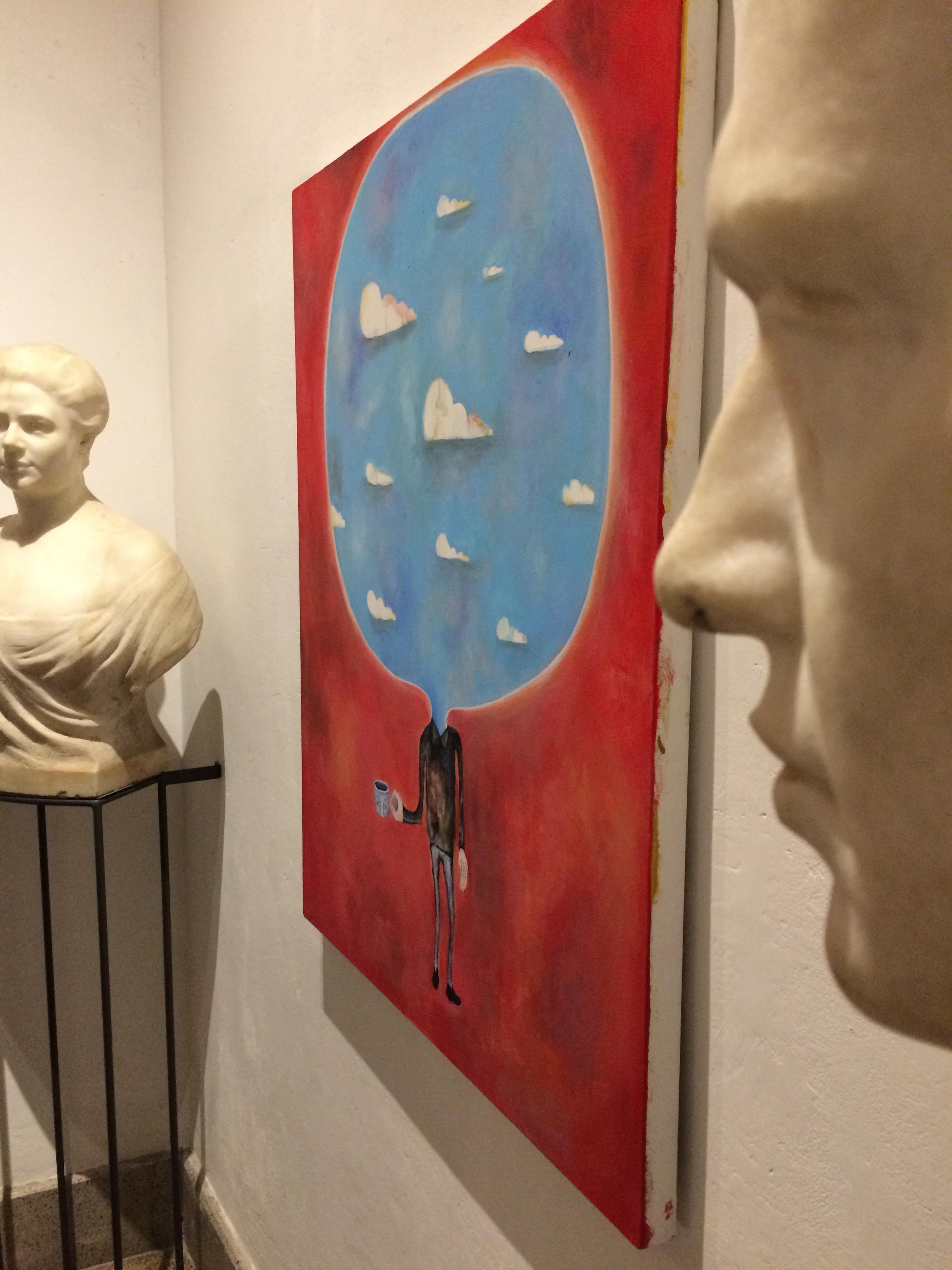 Gabriele Picco, Colazione col cielo, olio su tela, 2016. Courtesy Galleria Marcolini
