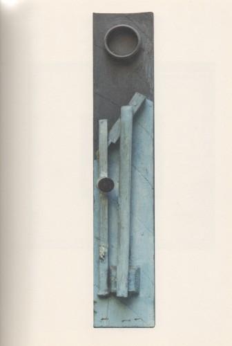 Sergio Dangelo, La ville. Porte de Saint-Denis, 1951, oggetto dipinto, 51x9x6 cm