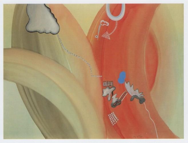 Sergio Dangelo, L'amore di Isaotta, 1962, smalto su tela, 120x160 cm, Fondazione Mudima, Milano