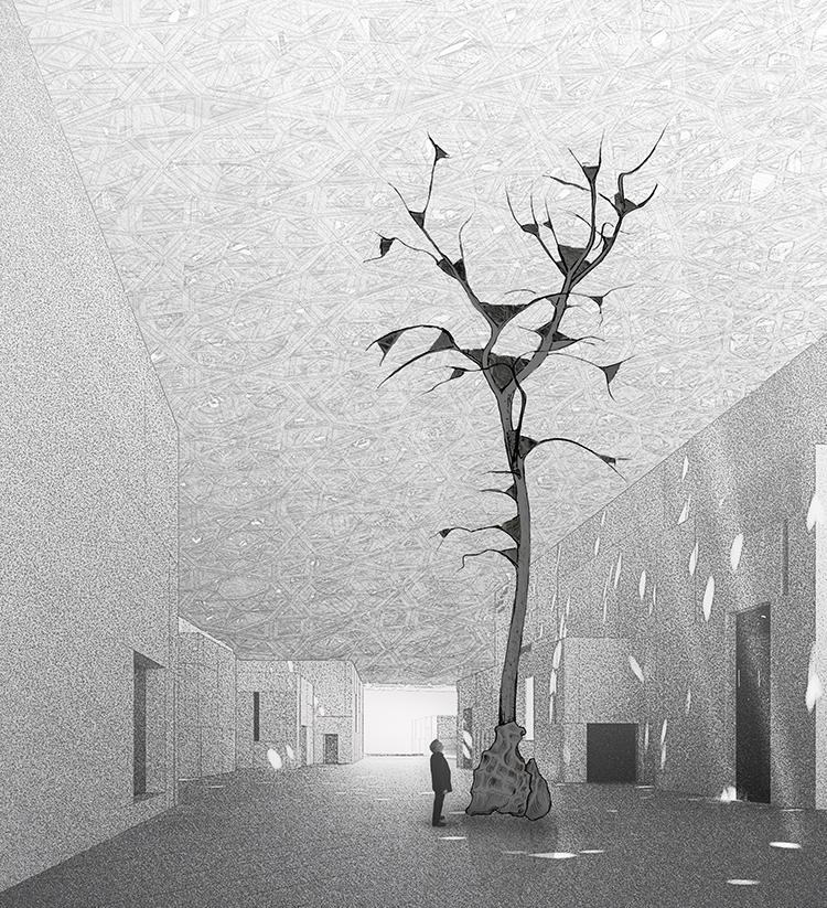 Leaves of Light - ® Giuseppe Penone, Ateliers Jean Nouvel