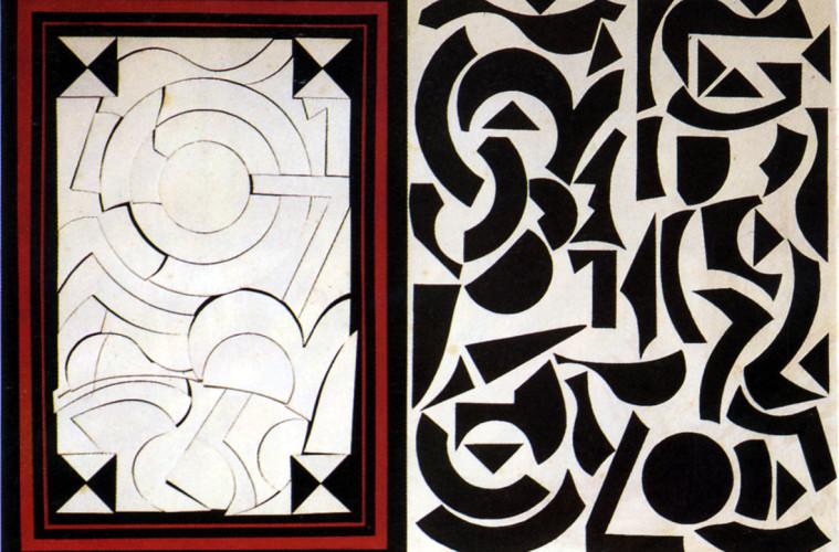 Lucio Del Pezzo, Rosebud, 1965, collage e acrilici su legno, 51x72 cm